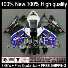 Bodys Blue K3  For SUZUKI GSX R1000 03 04 GSX-R1000 03-04 8#7112 GSXR 1000 2003 2004 GSXR-1000 GSXR1000 K3 Fairing Blue black