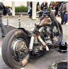 Harley Bobber, Chopper Motorcycle, Bobber Chopper, Motorcycle Leather, Custom Bobber, Custom Harleys, Custom Bikes, Vintage Bikes, Vintage Motorcycles