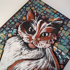 Polymer Clay on Canvas: Large Pet Portrait (with TUTE!) - POTTERY, CERAMICS, POLYMER CLAY