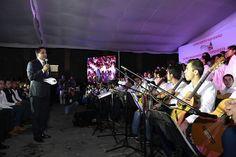 El concierto organizado por el DIF Michoacán se engalanó con la participación del Coro monumental y Orquesta Juvenil de Guitarras para la Prevención de Morelia – Morelia, Michoacán, 04 de ...