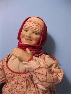 "30s XLC14"" USSR Soviet Union Russia Ryazan Region Lady Russian Cloth Stockinet"