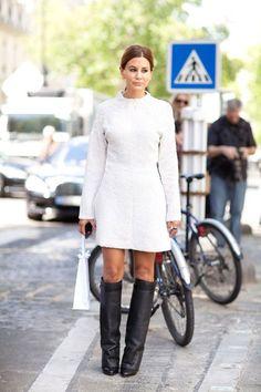 christine centera white dress