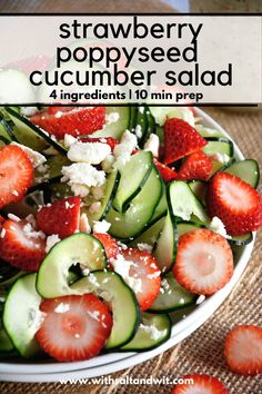 This easy dairy free cucumber salad is the perfect summer salad recipe! You will fall Easy Summer Salads, Salads For A Crowd, Easy Salads, Food For A Crowd, Recipes For A Crowd, Best Salad Recipes, Cucumber Recipes, Summer Salad Recipes, Healthy Recipes
