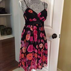 NWT Alyn Paige Poppy Dress w/ Spaghetti Straps! NWT Alyn Paige Poppy Dress w/ Spaghetti Straps! Removable bra padding. Gorgeous, vibrant colors! #0-3-16 Alyn Paige Dresses