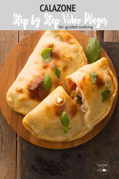 Calazone: A calzone is an Italian filled oven bread, originating in Naples, and shaped as a folded pizza. It resembles a half-moon and is made of salted bread dough. Calzone dough for the bread machine gets rolled out and stuffed with pizza sauce, sausage and cheese.