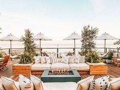The Surfrider Malibu — Cedar + Surf Malibu Pier, Malibu Beaches, Malibu Cafe, Malibu Surf, Malibu California, Hotel Rooftop Bar, Rooftop Patio, Pacific Coast Highway, Public Restaurant