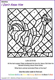 10 Best PETER'S DENIAL!!! images | Rooster craft, Denial ...
