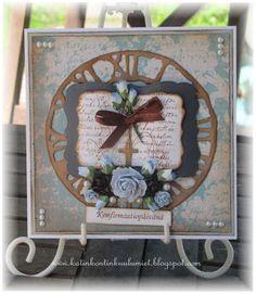 Katin-Kontin kuulumiset: Rippikortti ja korttikokeilu Wreaths, Frame, Home Decor, Picture Frame, Decoration Home, Door Wreaths, Room Decor, Deco Mesh Wreaths, Frames