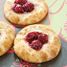 Cherry Cheesecake cookies. Like a Bite Sized Cheesecake -Delicious !