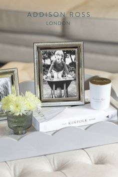 Capture those special moments within a silver photo frame, ideal for luxury living rooms, beautiful bedrooms, or even the family room and home office. #addisonross #silverphotoframe #traditionalphotoframe Gift Boxes Uk, Double Photo Frame, Contemporary Side Tables, Silver Frames, Family Room Decorating, Plate Design, Free Prints, Classic House, Flower Frame