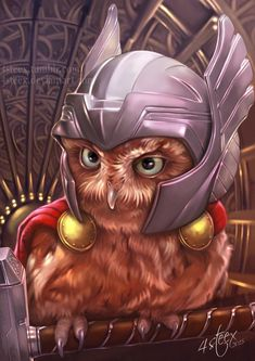 "The Owlvengers: A Series of Illustrations Picturing ""The Avengers"" as Owls Read more at https://www.geeksaresexy.net/2016/09/30/owlvengers-series-illustrations-picturing-avengers-owls/#yEoT2zyzj31hCpLY.99"