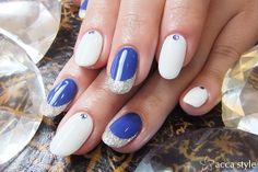 ロイヤルブルー&ホワイト☆ (高木)の画像 | 静岡市 ネイルサロン acca style