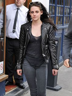 Kristen Stewart rocking the same Balenciaga jacket
