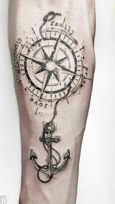 of Rosa dos Ventos tattoos Map Tattoos, Bild Tattoos, Anchor Tattoos, Arrow Tattoos, Forearm Tattoos, Rose Tattoos, Arm Band Tattoo, Body Art Tattoos, Tattos