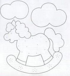 Rocking horse design which would be perfect for a baby quilt