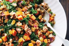 Stewed Kale and Lentils
