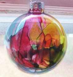 Alcohol Ink Ornaments | LulaBelle Handicrafts