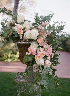 Spring wedding flowers: http://www.stylemepretty.com/2014/04/01/blushing-black-tie-affair-at-the-four-seasons/ | Photography: Kiss the Groom - http://www.kissthegroom.com/