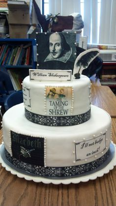Shakespeare S Cake Retirement Party Pinterest Cakes