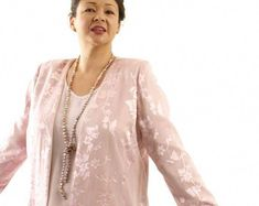 9e4a9557f098 Alternative Wedding Dress Plus Size Jacket Pink Silk Floral Mother of the  Bride Wedding Dress Custom Made SHOP NOW  Unique jackets for women Sizes 14  ...