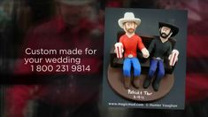 "Gay Bears Wedding Cake Topper by www.magicmud.com  1800 231 9814  These 2 gentlemen are very much in love with each other and are now enjoying the liberty of being able to wed!.. What a pleasure to be able to sculpt this custom ""gay bears"" wedding cake topper for them...  $235 #gay#rainbow_wedding#samesex#2grooms#2-men-wedding#gay-bears #two-grooms#wedding #cake #toppers  #custom #personalized #anniversary #birthday#weddingcaketoppers#cake toppers#figurine#gift#wedding cake toppers"
