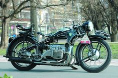 Zündapp K800.  First built in 1933.  Zündapp was a large scale motorcycle manufacturer in Germany between 1917 and 1984, the company has a fascinating history.  Click the image for more of the story.