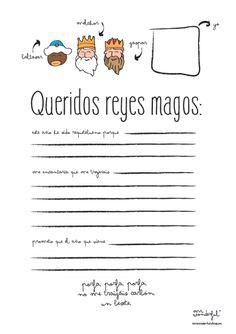 Carta a los Reyes Magos para descargar, por Mr. Wonderful*