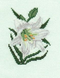 Easter Lily counted cross-stitch chart by 5PrickedFinger5 on Etsy