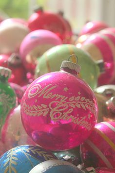 vintage glass ornaments https://www.facebook.com/pages/All-I-want-for-Christmas/199719693547081