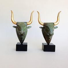 Bronzeskulptur griechische Minoische Skulptur von GreekMythos