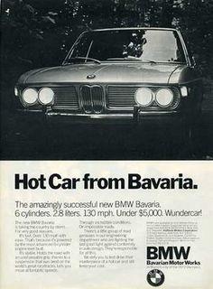 Vintage Cars BMW Bavaria - hot car from Bavaria vintage ad Bmw Vintage, Vintage Room, Bmw 535i, Bmw Classic Cars, Ad Car, Car Advertising, Car Posters, Bmw Cars, Car Photos