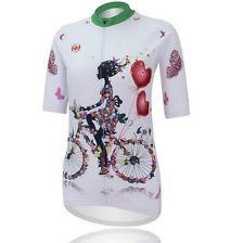New Women Cycling Bike Short Sleeve Jersey Top Clothing Bicycle Sportwear S-3XL