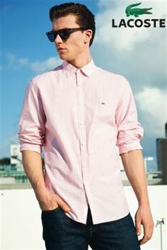 Lacoste red stripe shirt