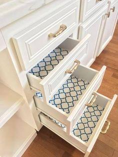 Navy Quatrefoil Adhesive Shelf Liner At The Home Depot Mobile