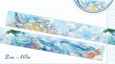 PRE-ORDER+++++++++ 1 Roll of Limited Edition Washi Tape: Ocean Deep Marine Life