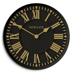 Newgate Clocks The Coach House Indoor / Outdoor Wall Clock - Black & Gold