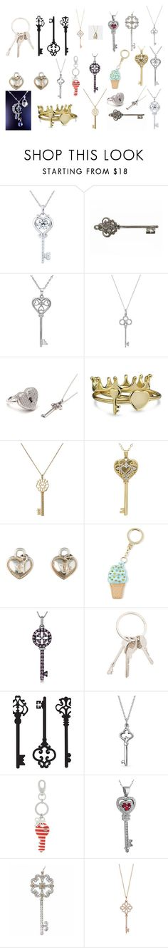 """""""Keys"""" by sahara2313 ❤ liked on Polyvore featuring Amanda Rose Collection, Tiffany & Co., Metal Couture, Bling Jewelry, Aurélie Bidermann, Kate Spade, Givenchy, WallPops, Kipling and Coach"""