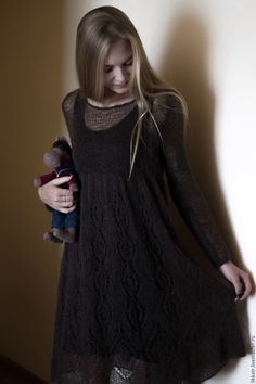 Платье Smoky Quartz – купить или заказать в интернет-магазине на Ярмарке Мастеров | Невесомое платье из итальянского кид мохера…