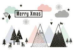 Joyeux carte postale de Noël par MissHoneyBird sur Etsy