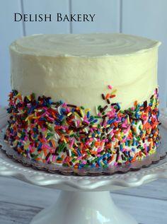 Our most fun cake -- Rainbow cake! It's the surprise inside! Cake Rainbow, Treat Yourself, Amazing Cakes, Delish, Bakery, Oven, Birthday Cake, Treats, Desserts