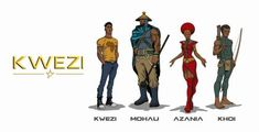 The African superhero universe continues to widen with Loyiso Mkize's South African teen superhero comic series, 'Kwezi. Comic Book Artists, Comic Books, Comic Art, Black Planet, Black Comics, Black Characters, Book Writer, Afro Punk, African Culture