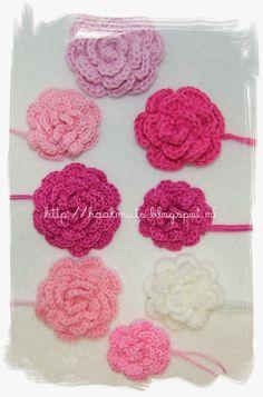 Roosjes maken op een makkelijke manier............http://haakmuts.blogspot.nl/