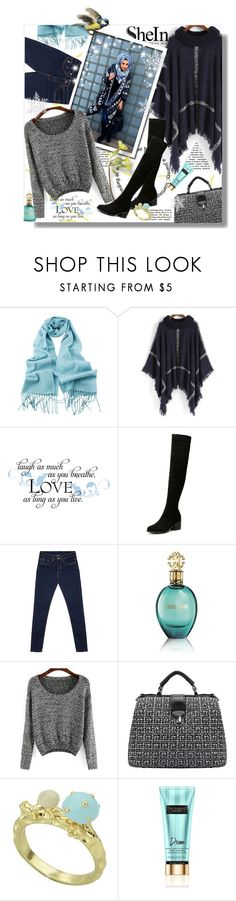 """Hijab"" by sans-moderation ❤ liked on Polyvore featuring moda, Roberto Cavalli, Winter, hijab e shein"