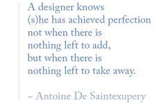 A designer knows