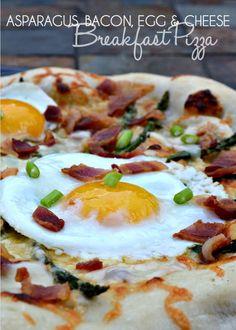 Breakfast Pizza Recipe: Asparagus, Bacon, Egg & Cheese Breakfast Pizza