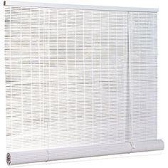 "1/4"" Oval PVC Blind, White, 120"" x 72"" $30"