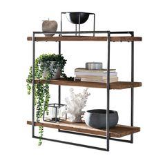 Newell Wall Shelf Alpen Home Display Shelves, Wall Shelves, Shelving, Loft Furniture, Wood Bar Stools, Wood Bars, Wood Cabinets, Cool Walls, Diy Wall