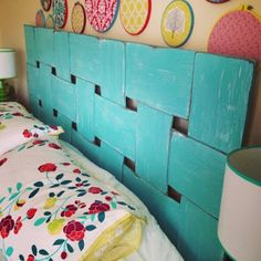 Lattice Look Headboard; might look great with a maple or mahogany stain.  Hmm.