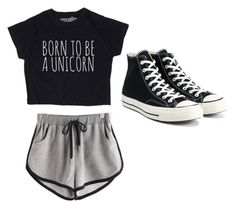 """Ivy Gym Outfit 1"" by emopotato77 on Polyvore featuring Converse"
