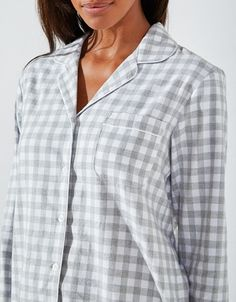 Brushed Cotton Gingham Pyjama Set 993c0ac1b